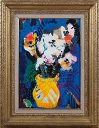 bouquet de fleurs dans un vase by bernard lorjou