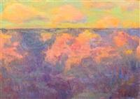 afterglow - grand canyon ariz by joseph henry sharp
