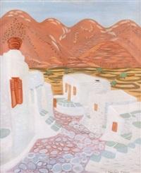 vue de l'île de sifnos (cyclades) by h. perakis-theocharis