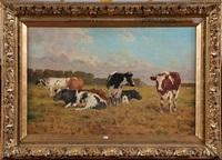 vaches au pré by adolphe jacobs