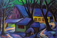 stiller winterabend by helmut arnez