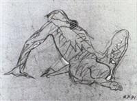 der zeichner/ selbstbildnis by max peintner
