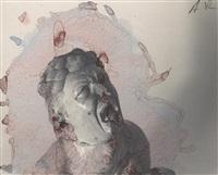 untitled (asian head) by arnulf rainer