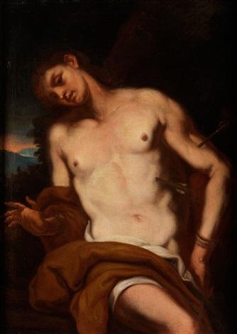 heiliger sebastian or painted by daniel seider by johann karl loth