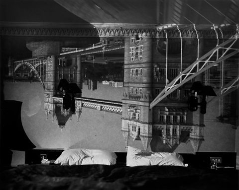 camera obscura image of the tower of london in the tower hotel by abelardo morell