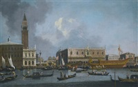 venice, the bucintoro returning to the molo on ascension day by canaletto