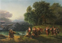 the first interview of telemachus with calypso by benjamin west