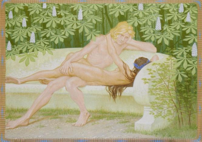 the lovers by hugo hoppener fidus