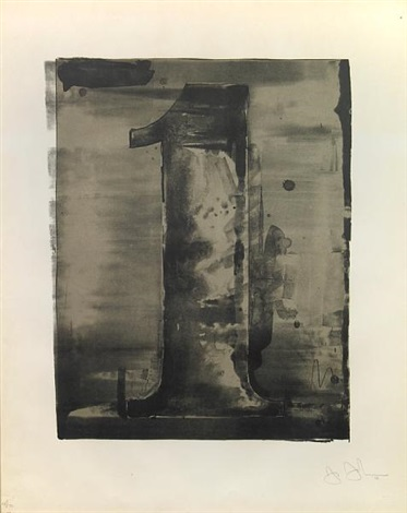 figure 1 from the black numeral series by jasper johns