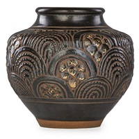 vase with incised decoration by emile lenoble