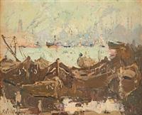 vue animée du port de constantinople by adrien jean le mayeur de merprés