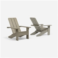 adirondack chairs, pair by roy mcmakin