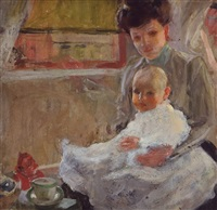 mother and baby by herman methfossel