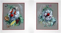 clown portraits (4 works) by cydney grossman