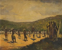 scène rituelle en afrique by jos de smedt