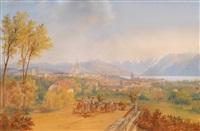 schweizer landschaft (?) by carl martin laeisz