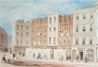 king street, covent garden, with a view of debenham and storr auctioneers by thomas hosmer shepherd