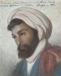 portrait of an algerian jew by edouard moyse