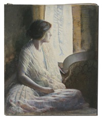 young beauty by window by waldo kennard