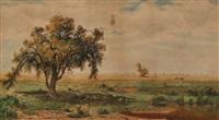 pastoral landscape by amos sangster