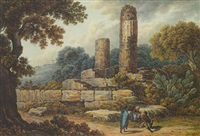 view of the temple of vulcan, agrigento by pietro martorana