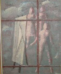 trio en het canvas by jos van lencker