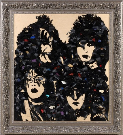 kiss life is beautiful by mr brainwash