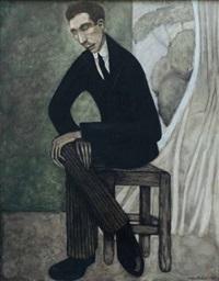 portrait de henri-pierre roché by hélène marie marguerite perdriat