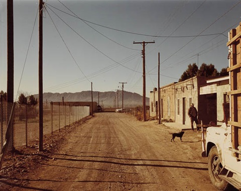 back road, presidio, texas by stephen shore