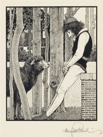 baa baa black sheep from mother goose in prose by maxfield parrish
