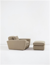 speed chair and ottoman, designed by paul t. frankl