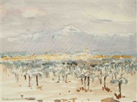 usines, vue de marrakech (2 works) by bernard raoul lachevre