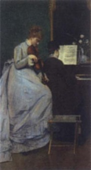 the music lesson by charles louis verwee