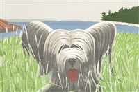 dog at duck trap by alex katz