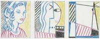 study for lichtenstein portrait triptych by sturtevant