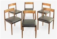 dining chairs (set of 6 works) by poul volther