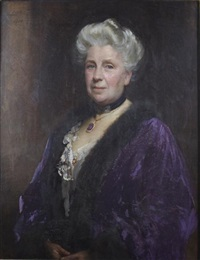 portrait of lady johnson-ferguson of springkell by sir samuel luke fildes
