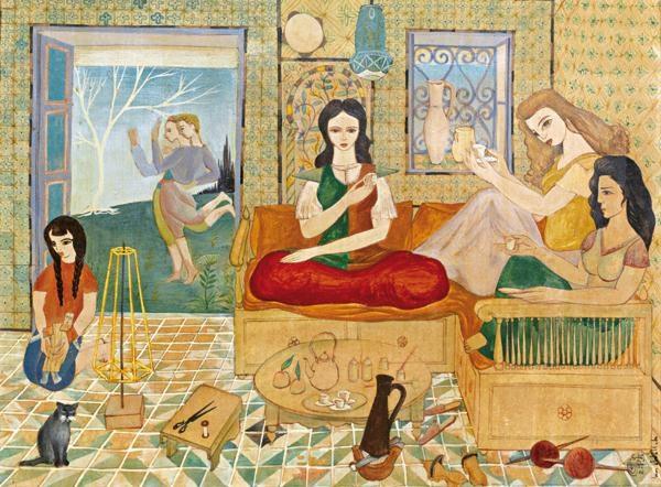jeunes femmes à lheure du café by jellal ben abdallah