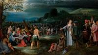 cristo y la verónica camino del calvario by frans francken the elder