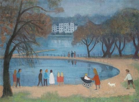 by the pond hampstead heath by kathleen guthrie