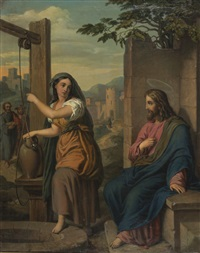 le christ avec la samaritaine by josef selleny
