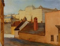 view of budapest by erno (ernst) marko