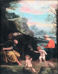 the rest on the flight into egypt by sisto badalocchio