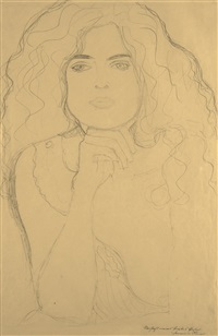 bildnis einer frau (portrait of a woman) by gustav klimt