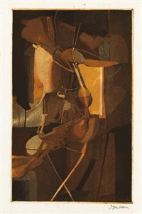 la mariée (by jacques villon) by marcel duchamp