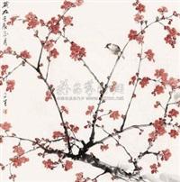 红梅小鸟 by liu wensheng