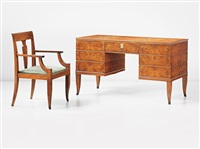desk and armchair (2 works) by tomaso buzzi