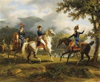 le général berthier et ses deux frères lors d'une bataille de la seconde campagne d'italie by louis françois lejeune