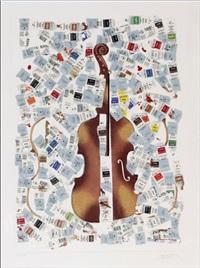 violon tubes peinture by arman
