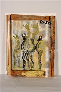 golden and black figures by purvis young